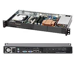 SERVER CHASSIS 1U 200W BLACK/MINI CSE-502-200B SUPERMICRO