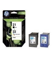 INK CARTRIDGE COMBO PACK NO.21//22 5ML SD367AE HP