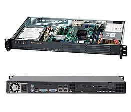 SERVER CHASSIS 1U 200W BLACK/CSE-502L-200B SUPERMICRO