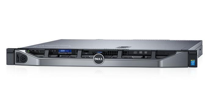 SERVER R230 E3-1240V6 H330/4X3 5/250W/RAILS/3Y SPC DELL