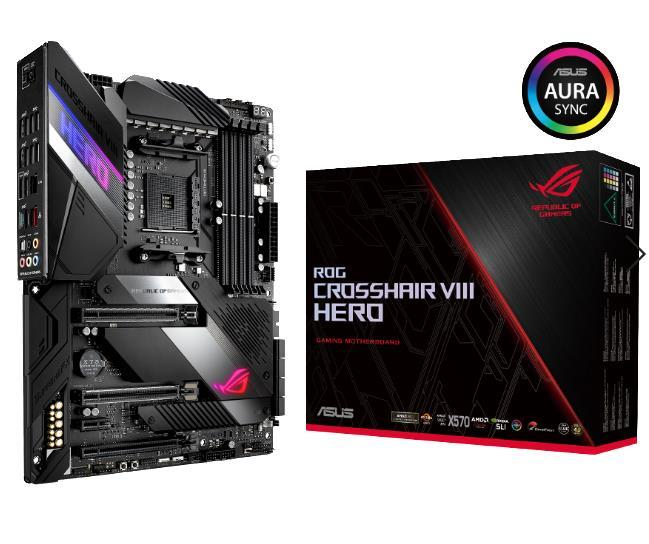 MB AMD X570 SAM4 ATX/ROG CROSSHAIR VIII HERO ASUS