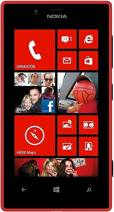 Nokia 720 Lumia red Windows Phone Used (grade:A) - Electronic