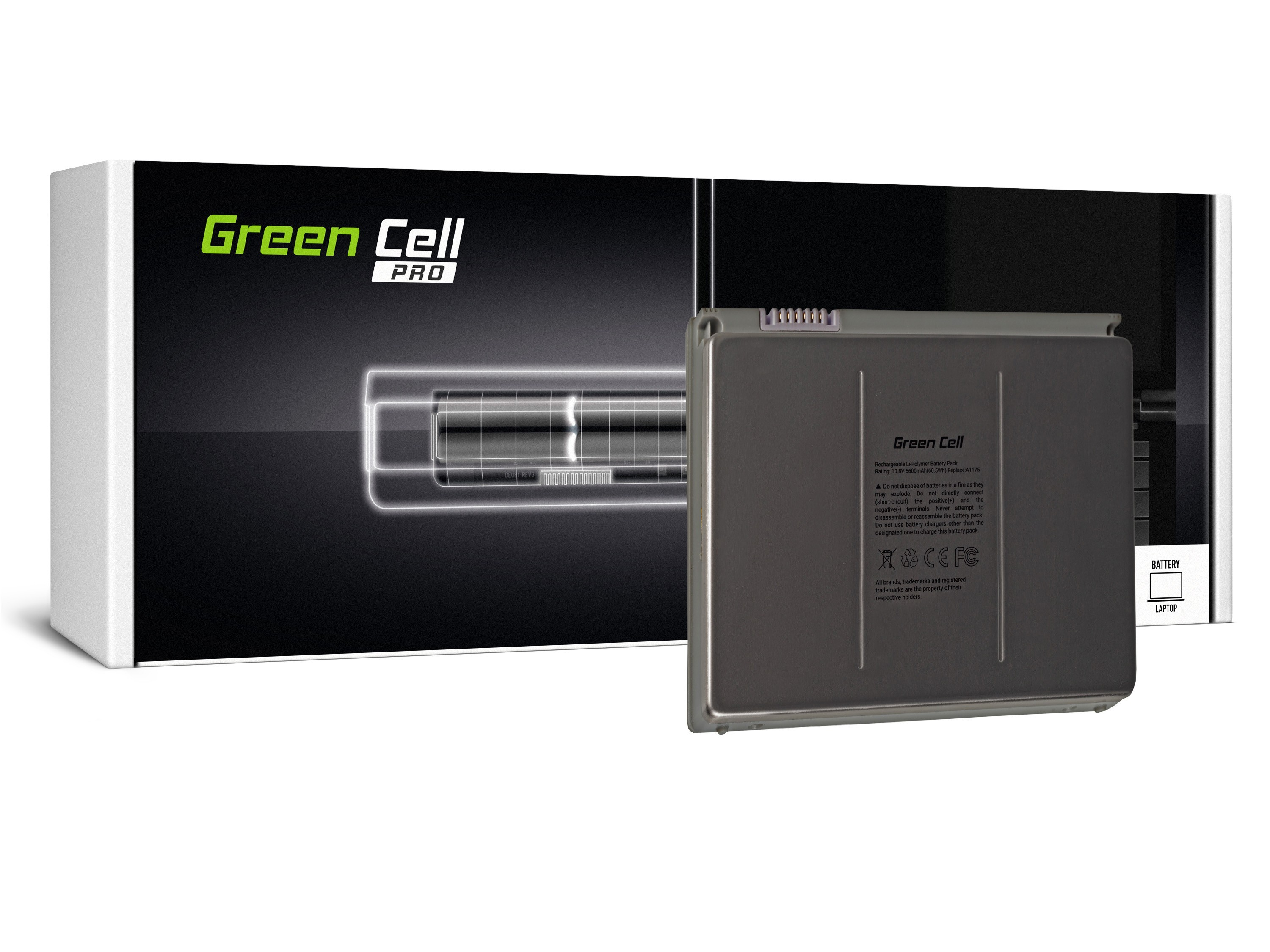 newest 07490 5c7f6 Green Cell PRO Battery for Apple Macbook Pro 15 A1150 A1211 A1226 ...
