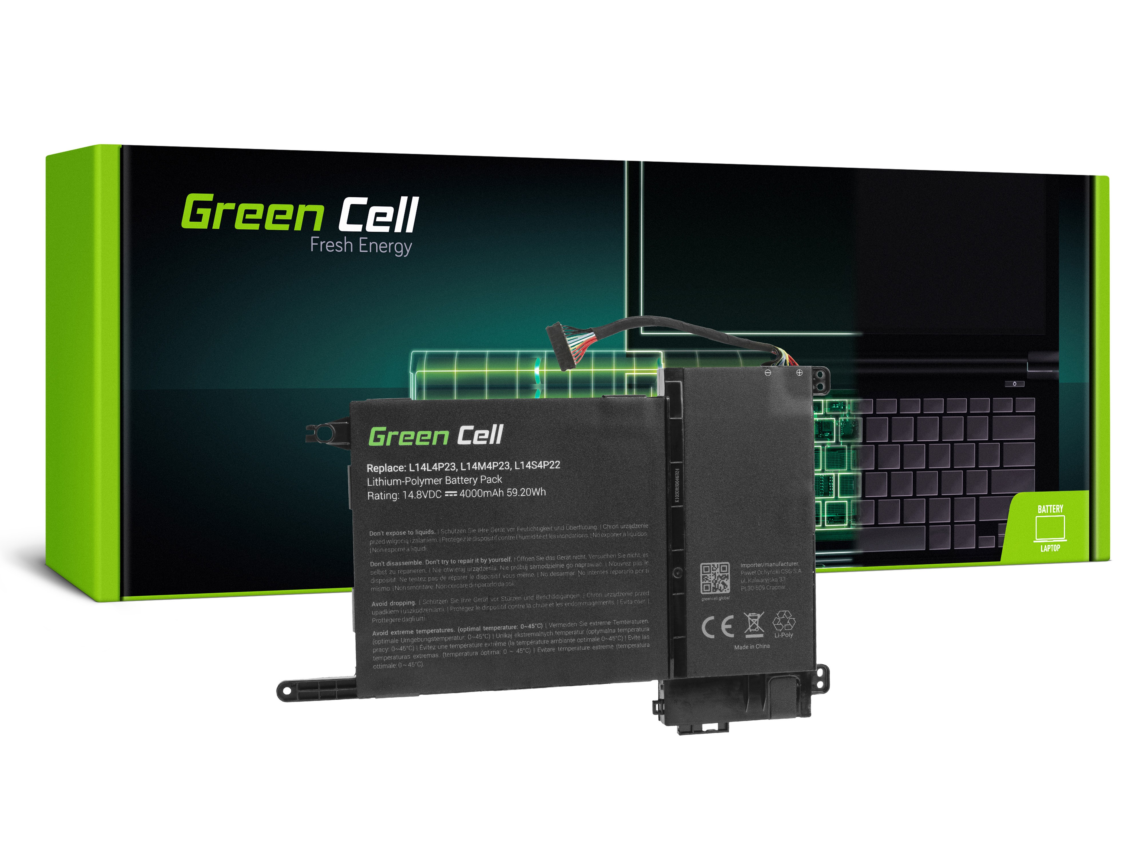 Green Cell Battery for Lenovo IdeaPad Y700-15ACZ Y700-15ISK Y700